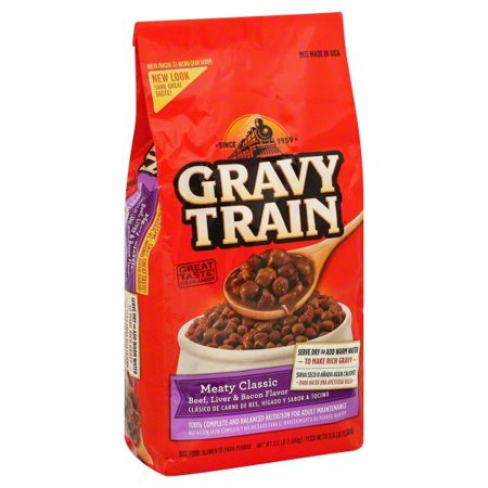 - Gravy Train Meaty Classic Beef, Liver and Bacon Flavor Dry Dog Food, 3.5-Pound