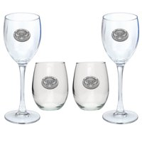 Kennesaw State Goblet Set Stemmed and Stemless Wine Set