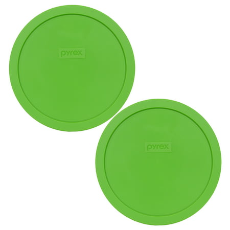 Vintage Pyrex Green (Pyrex Replacement Lid 7402-PC Green Round Cover (2-Pack) for Pyrex 7402 7-Cup Bowl (Sold)