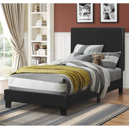 Coaster Company Mauve Upholstered Bed Twin Bed, Black Leatherette (Black Leatherette)