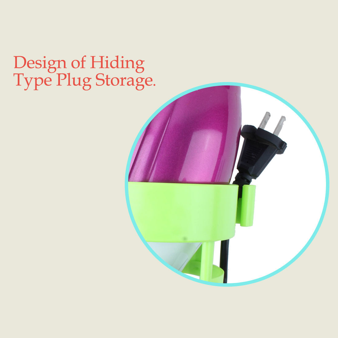 Self Adhesive Plastic Hair Dryer Holder Blower Rack Organizer Bathroom Green - image 3 de 7