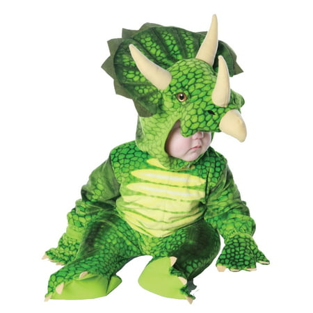 Green Triceratops Plush Baby Costume - Costume Of A Baby