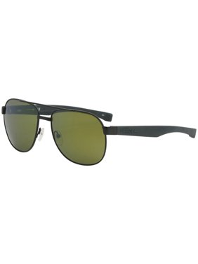 005fe80b1d0 Product Image Lacoste L186S 315 Green Matte Modified Rectangle Sunglasses