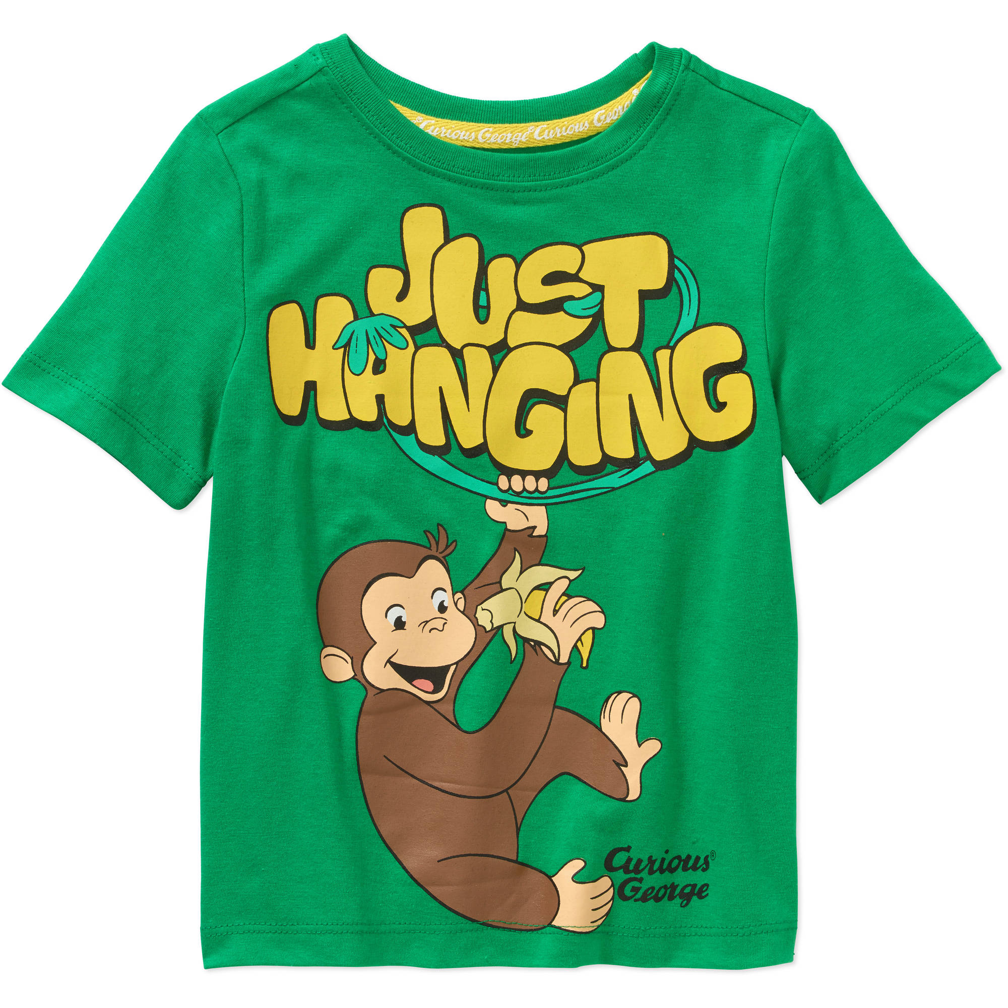 Curious George Toddler Boys' Just Hanging Graphic Tee Shirt