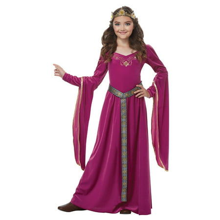 Female Medieval Costumes (Medieval Princess Fuschia Child)