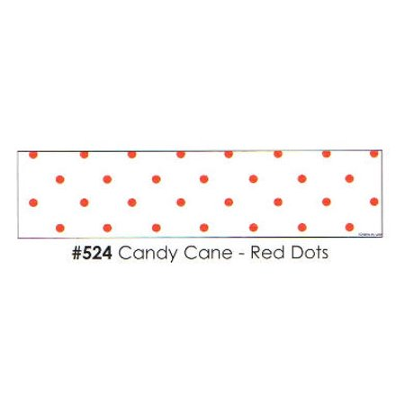 Candy Cane - Red Dots 3 Strips Edible Frosting Photo Cake Border Decoration](Candy Photos)