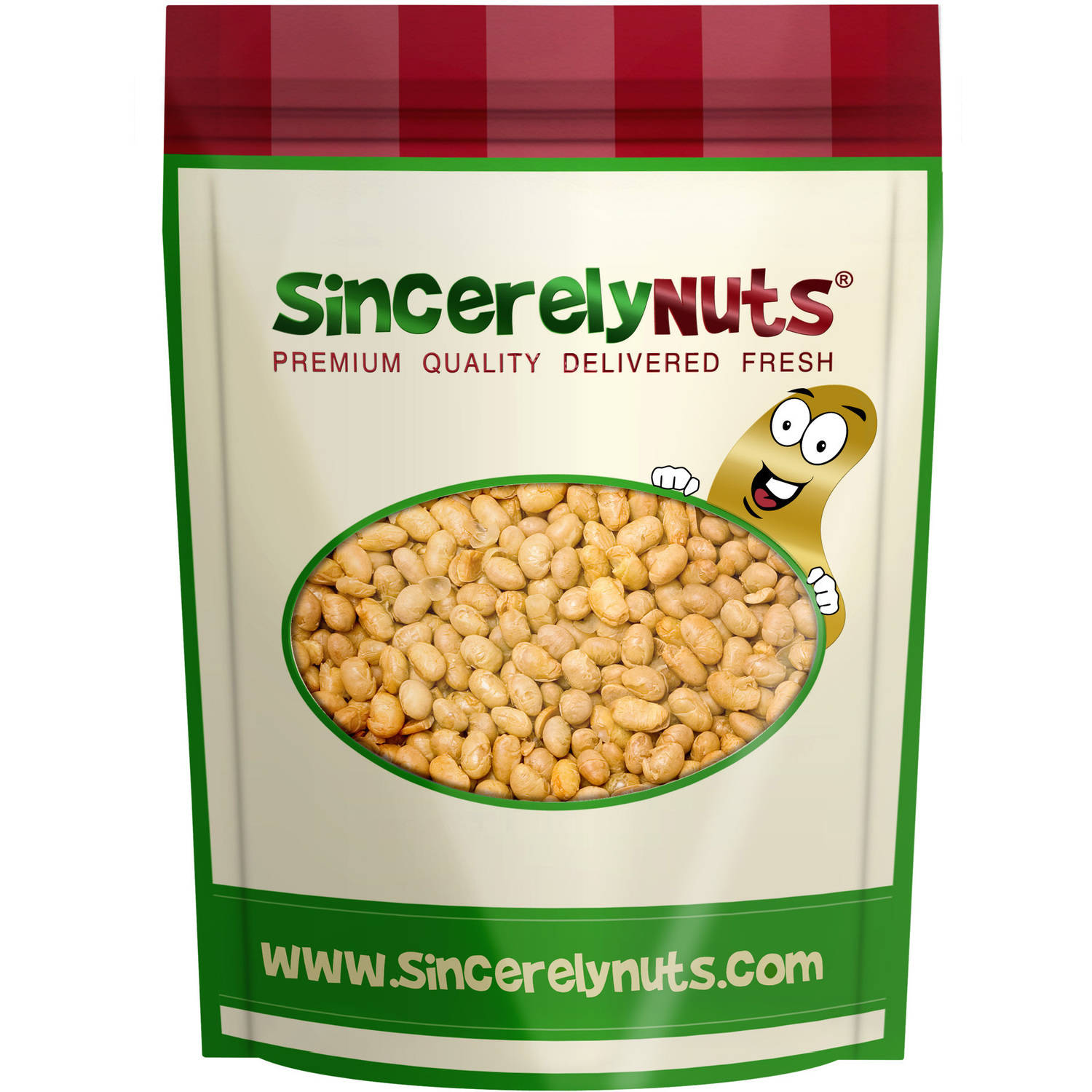 Sincerely Nuts Soybeans Roasted Unsalted, 5 LB Bag by Sincerely Nuts