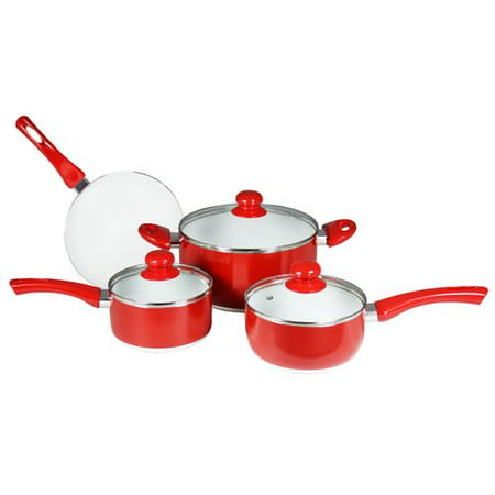Concord Cookware 7 Piece Ceramic Non Stick Cookware Set