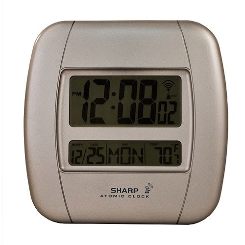 Digital Atomic Clock : Sharp atomic digital wall clock walmart