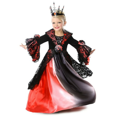 Halloween Girl's Valentina the Vampire Child Costume - Little Girl Vampire Halloween Makeup