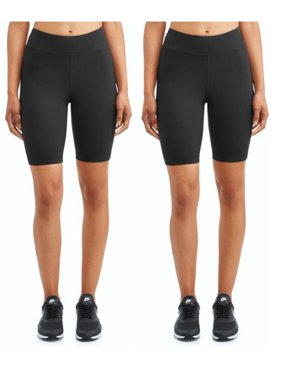 "Athletic Works Women's Active 9"" Basics Bike Short 2 Pack"