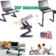 New Arrival Laptop Table, Adjustable Laptop Bed Table, Laptop Computer Stand,Portable Home Use Assembled Folding Table,Durable and Flexible,Black(48 x 26cm)