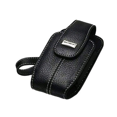 BlackBerry Leather Pouch w/ Carrying Strap for BlackBerry Bold/Onyx 9700 (Black)