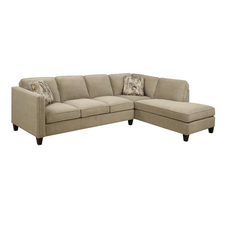 Focus l sectional left side facing sofa right side facing for Sectional sofa with right side chaise