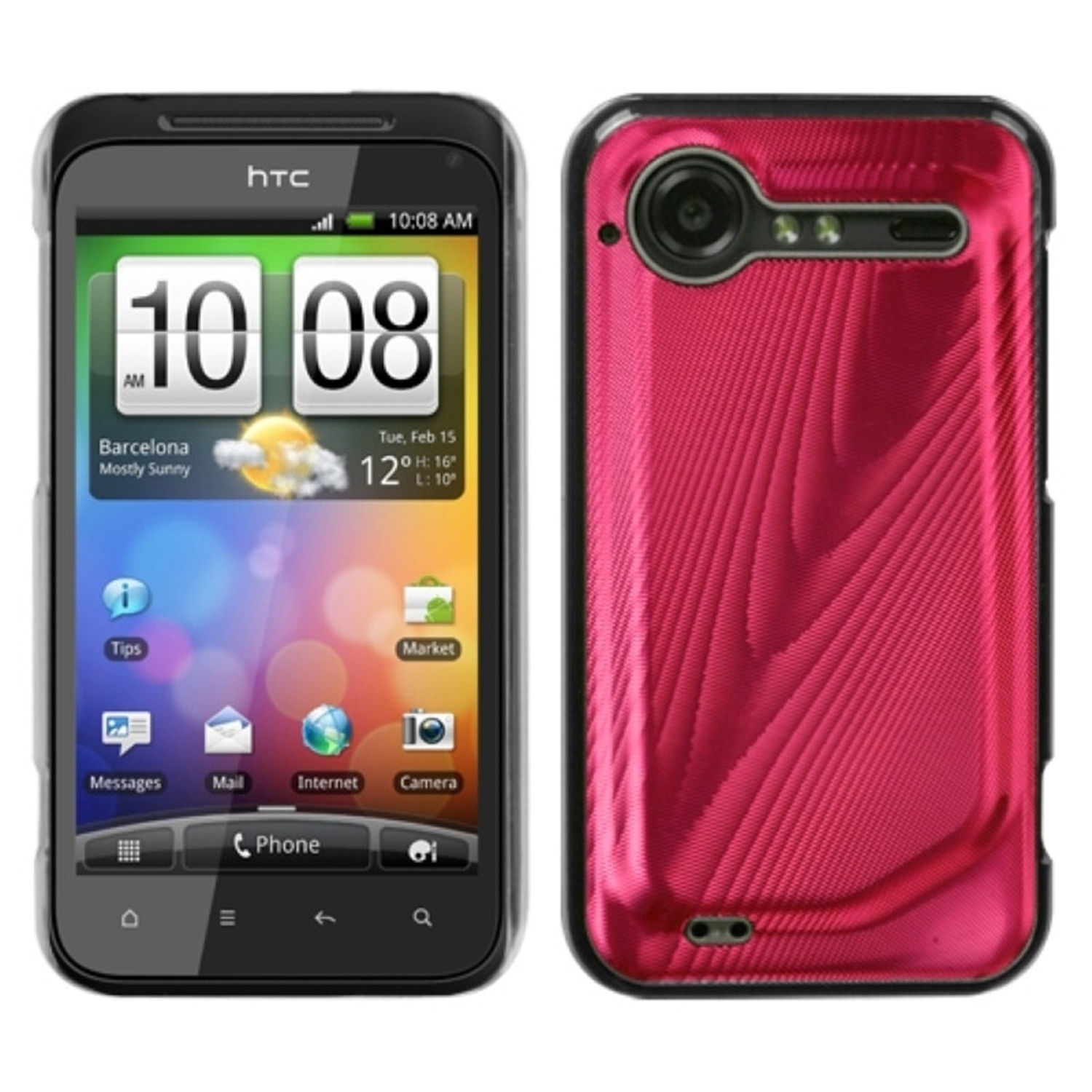 Insten Red Cosmo Back Case for HTC: ADR6350 (Droid Incredible 2)