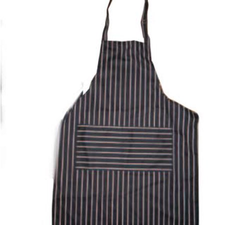 30 Inch Integral Apron Bathtub - Cool Chef Black and White Striped Bib Apron | Durable 100% Cotton, Adjustable Neck Strap, Two Pockets, For Men and Women, 30 Inch x 22 Inch