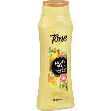 - Tone Fruit Peel Alpha-Hydroxy Fruit Acids Exfoliating Body Wash, 16 fl oz