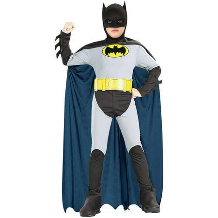 Batman Animated Boys Child Halloween Costume, One Size, M (8-10)