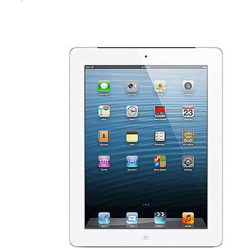 Apple iPad with Retina display 64GB Wi-Fi + AT Refurbished, (Black or White)