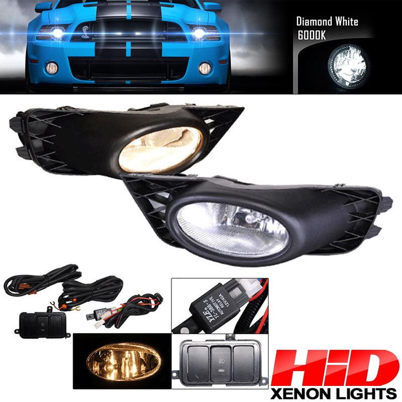 6000K Hid Fits Honda Civic 09-11 4Dr Sedan Clear Lens Fog Lights Kit RH LH