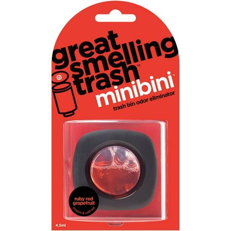 Great Smelling Trash Minibini Ruby Red Grapefruit Trash Bin Odor Eliminator Refill, 4.5mL