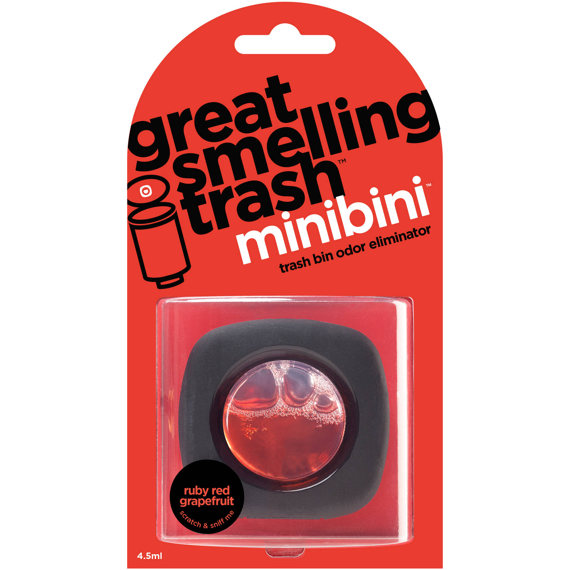 Great Smelling Trash Minibini Ruby Red Grapefruit Trash Bin Odor Eliminator Refill, 4.5mL
