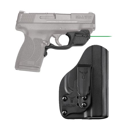 Crimson Trace Laserguard Smith & Wesson M&P 45 Shield, Green Laser with Blade Tech Holster,