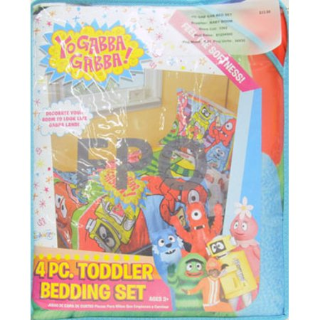 yo gabba gabba toddler bedding 4 piece set jeep fun walmart com