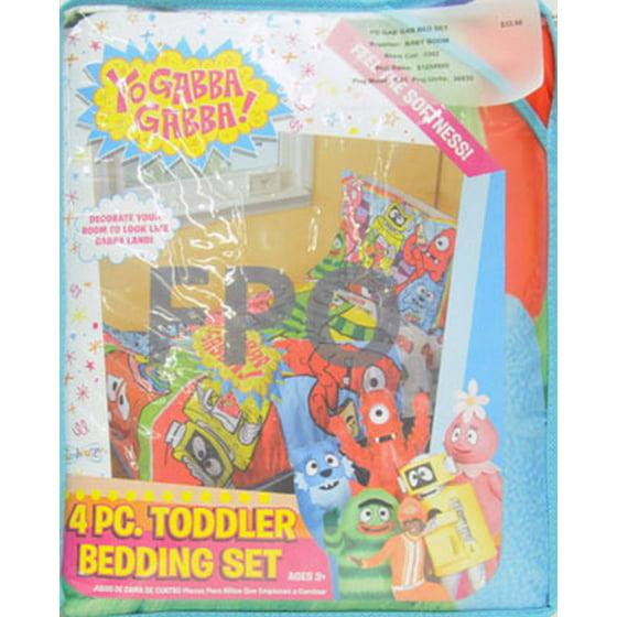 yo gabba gabba toddler bedding 4 piece set jeep fun walmart com