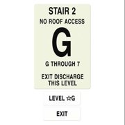 INTERSIGN NFPA-PVC1812-X(2GN7) NFPASgn,StairId2,FlrLvlG,Flrs Srvd1 to 7