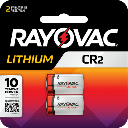Rayovac Specialty CR2 Lithium Batteries, 2 Count