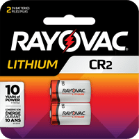 Rayovac Lithium CR2 Batteries, 2 Count