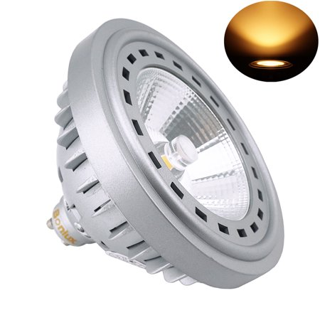 Gu10 Fluorescent Bulbs - Bonlux 12W LED Ar111 Es111 GU10 Base Spot Light Bulb with Cree COB Chips 75W Halogen Replacement Bulb for Commercial Lighting and Residential Lighting, 120V Warm White 2700k