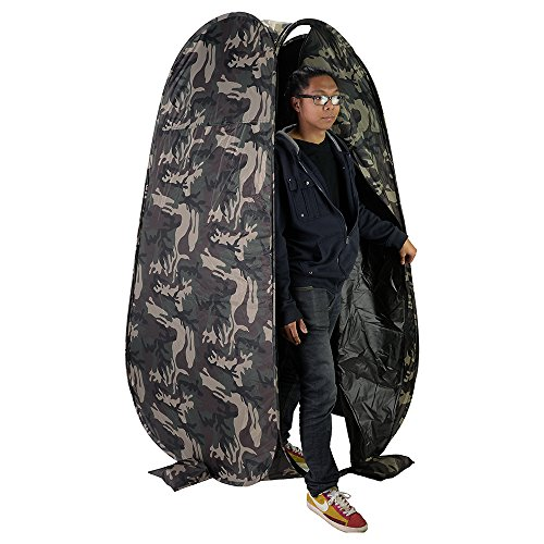 "Fotodiox Pro Collapsible Portable Indoor/Outdoor Changing Room - Camo, 6'4"" Tall, 3'6""x3'6"" Base, Pop-up Dressing Tent"