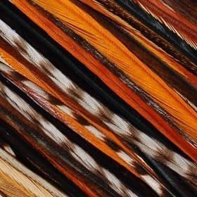 Rainbow Remix 4-7 Feathers for Hair Extension Includes 2 Silicone Micro Beads 5 Feathers