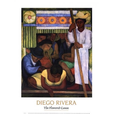 The Flowered Canoe Poster Print by Diego Rivera (24 x 32)