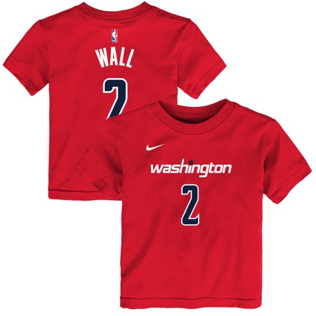best service d3d08 0afaa John Wall Washington Wizards Nike Preschool Name & Number T-Shirt - Red