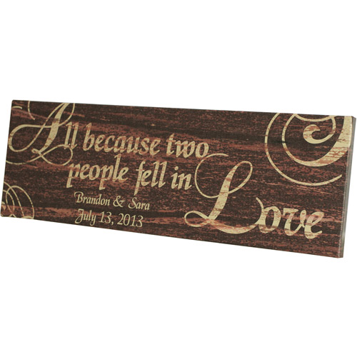 """Personalized """"All Because Two People Fell in Love"""" Canvas"""