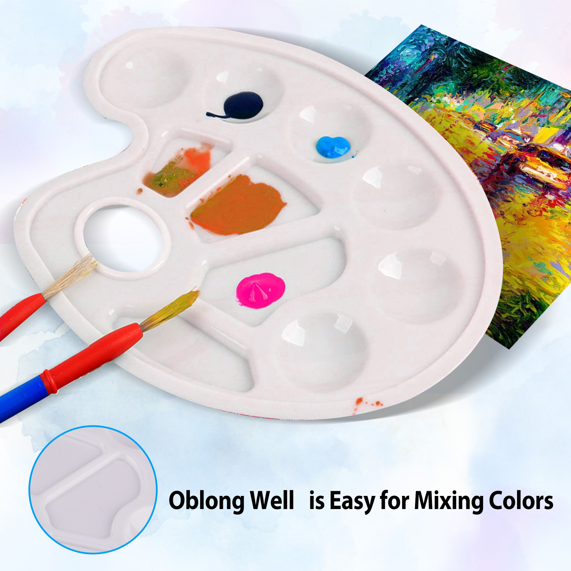 Plastic Paint Tray Palettes Artist Paint Palettes for Diy ...