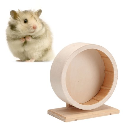 Wooden Wheel Toy Interactive Natural Hamster Toys Wooden Chew Toys For Small Animals Guinea Pig