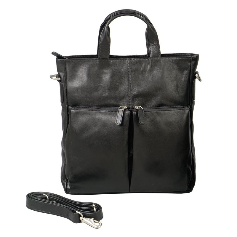 Harness Cowhide Leather All-Purpose Tote - Black