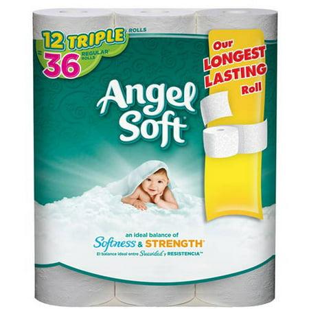 Angel Soft Toilet Paper  12 Triple Rolls  Bath Tissue. Angel Soft Toilet Paper  12 Triple Rolls  Bath Tissue   Walmart com