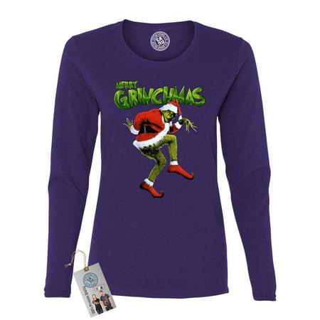 Merry Grinchmas Grinch Christmas Womens Long Sleeve Shirt