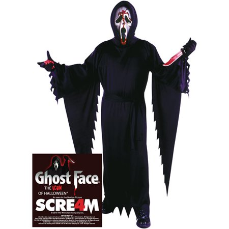 You Tube Halloween Zip Face (Bleeding Ghost Face Adult Halloween)