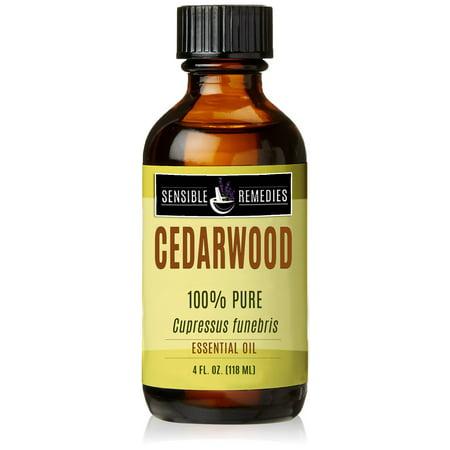 Sensible Remedies Cedarwood 100% Therapeutic Grade Essential Oil, 4 fl