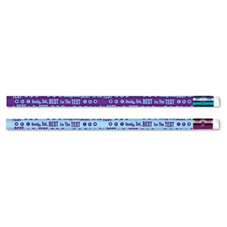 Moon Products 52060B Decorated Pencil  Ready  Set  Best for the Test  Blue-Purple Barrel