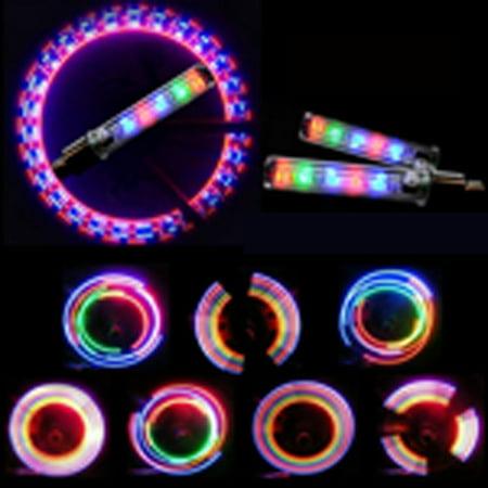 iClover 6PCS Bike Valve Lamp LED Colorful Flash Tyre Wheel Valve Cap Light for Bike Bicycle Car Night Activities ()