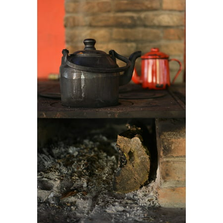 LAMINATED POSTER Coal Kettle Wood Burning Stove Fire Firewood Poster Print 24 x (Best Kettle For Wood Burning Stove)