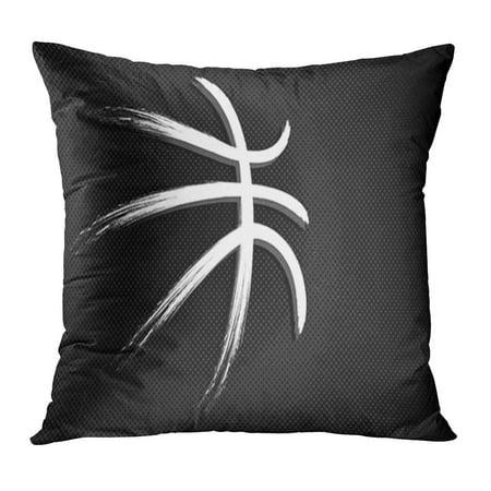 ECCOT Orange Court Basketball Sport Ball Basket Pattern College Tournament Trophy Pillow Case Pillow Cover 18x18 - College Sports Team Pillow