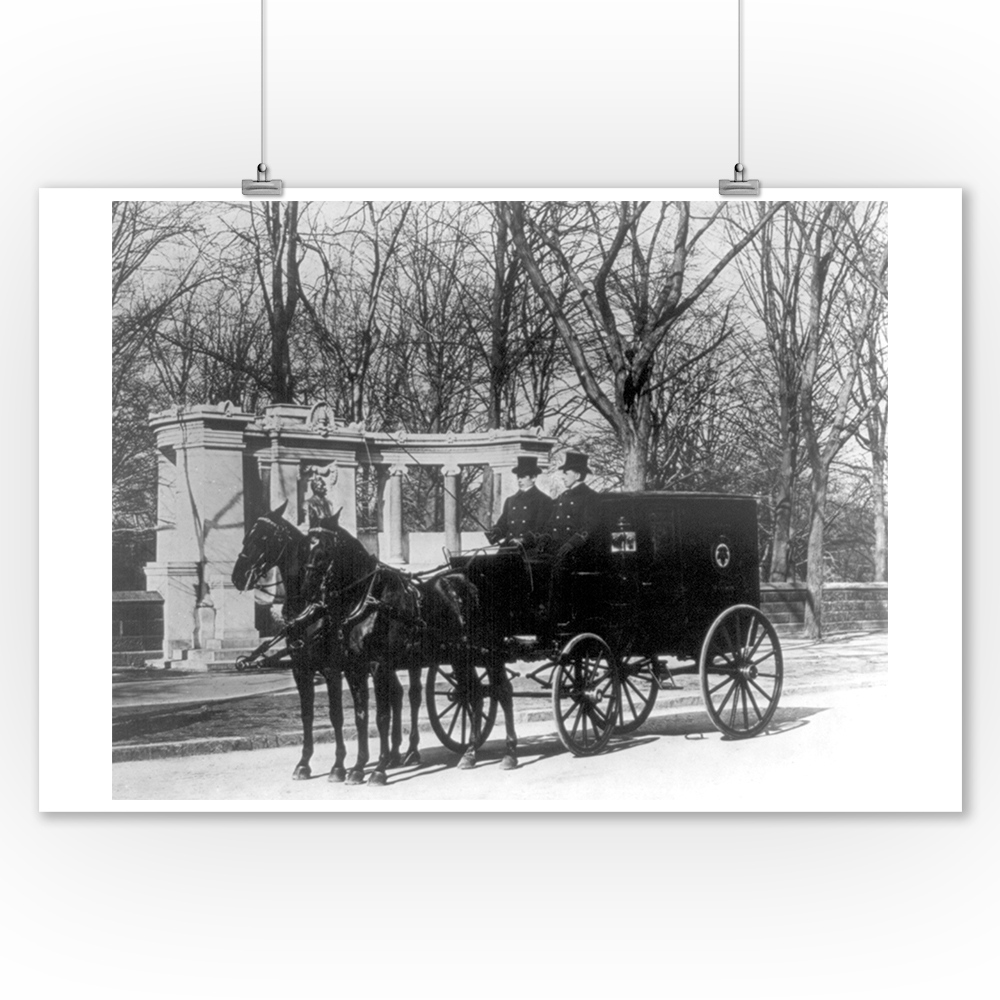 Pabst Brewing Company Delivery Wagon NYC Photo (9x12 Art Print, Wall Decor Travel Poster)